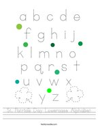 St Patrick's Day Lowercase Alphabet Handwriting Sheet