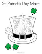 St Patrick's Day Maze Coloring Page