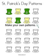 St Patrick's Day Patterns Coloring Page