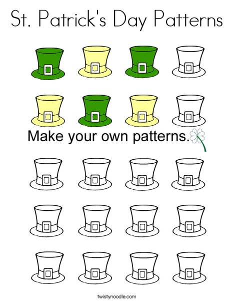 St. Patrick's Day Patterns Coloring Page