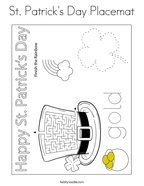 St Patrick's Day Placemat Coloring Page