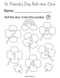 St. Patrick's Day Roll-the-Dice Coloring Page
