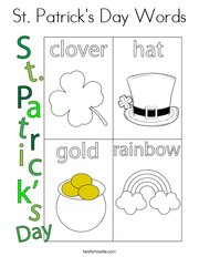 St. Patrick's Day Words Coloring Page