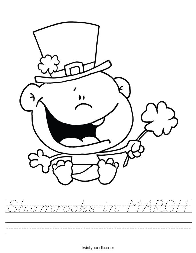 Shamrocks in MARCH Worksheet
