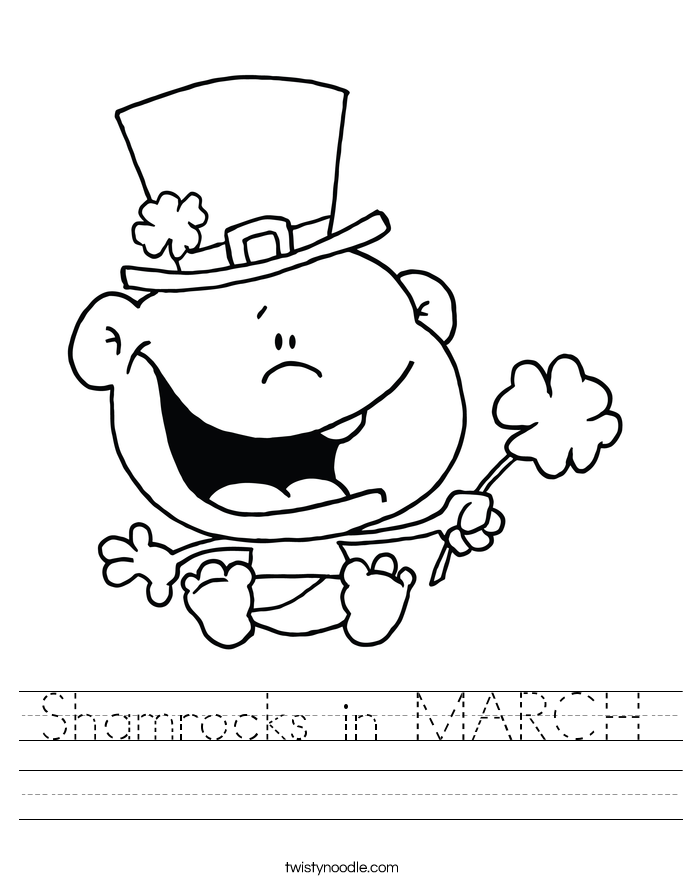 Shamrocks in MARCH Worksheet