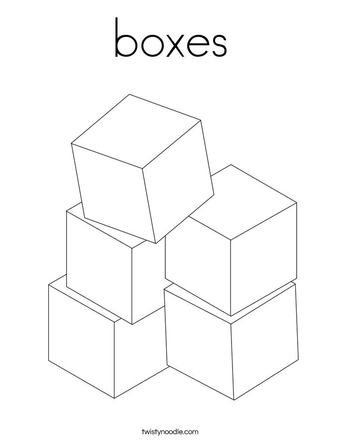 boxes Coloring Page