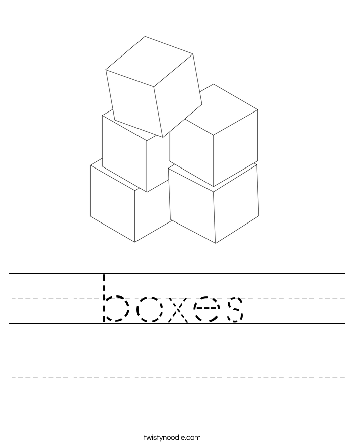 boxes Worksheet