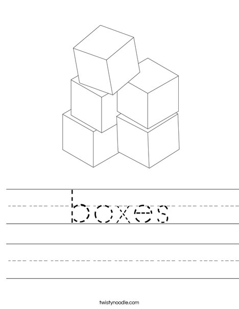 Stacked Blocks Worksheet