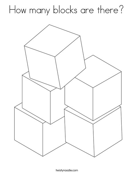 how many blocks are there coloring page