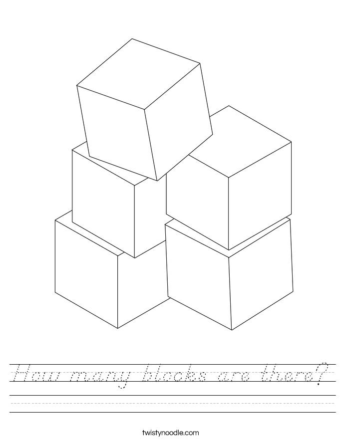 How many blocks are there? Worksheet