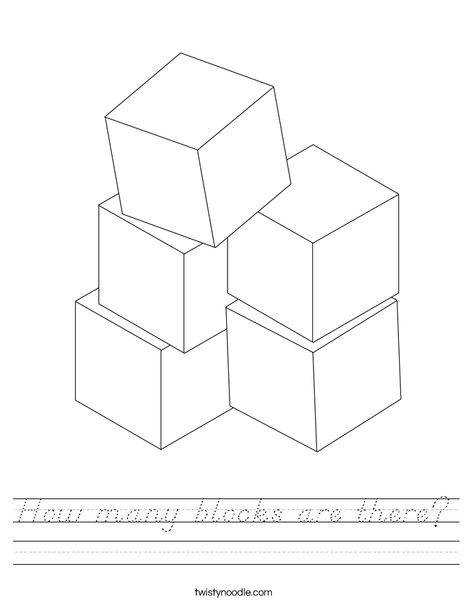 Stacked Blocks Worksheet