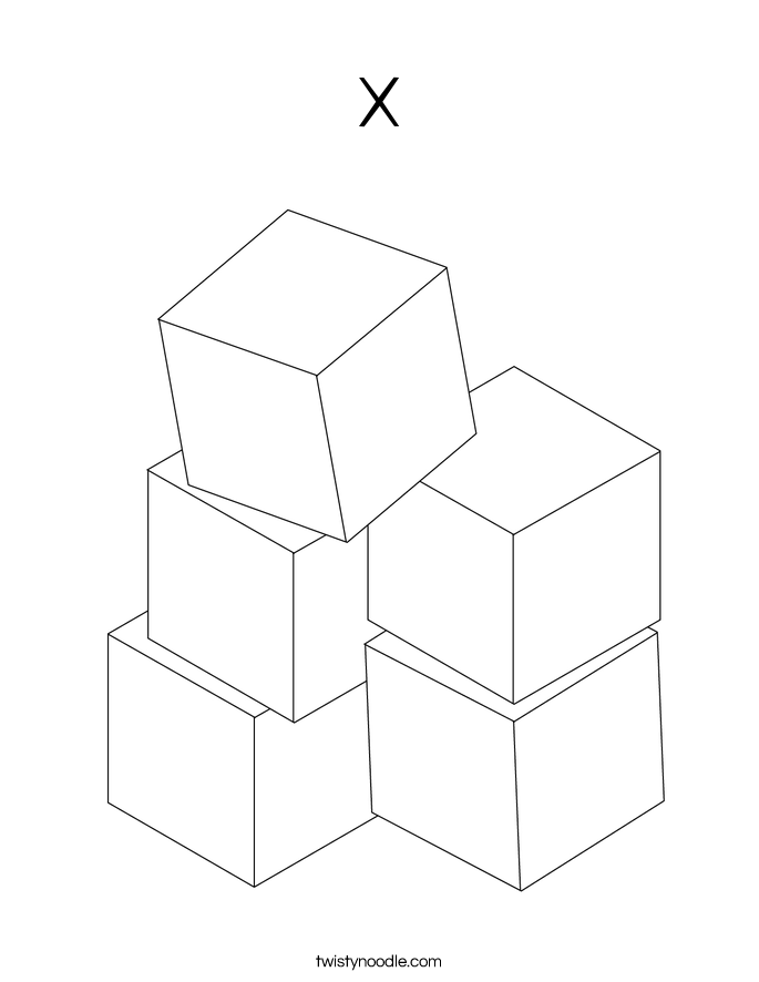 x Coloring Page