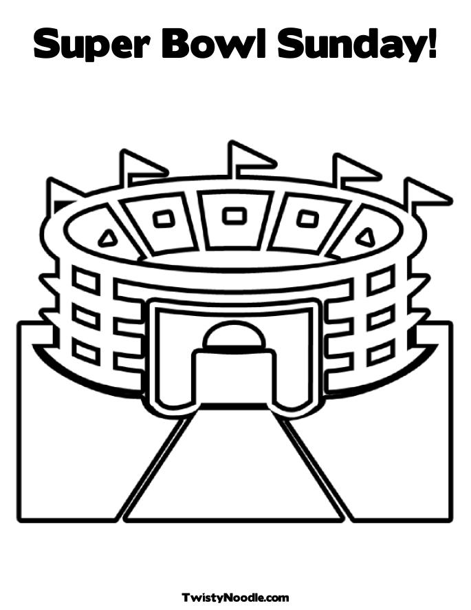 nfl stadium coloring pages - photo#33