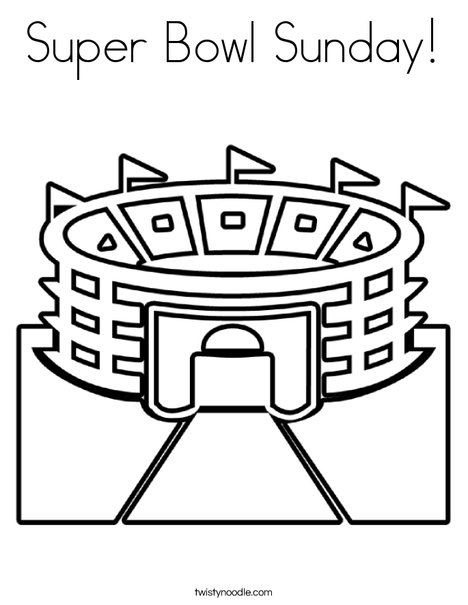 stadium 2 coloring page - Super Bowl Coloring Pages