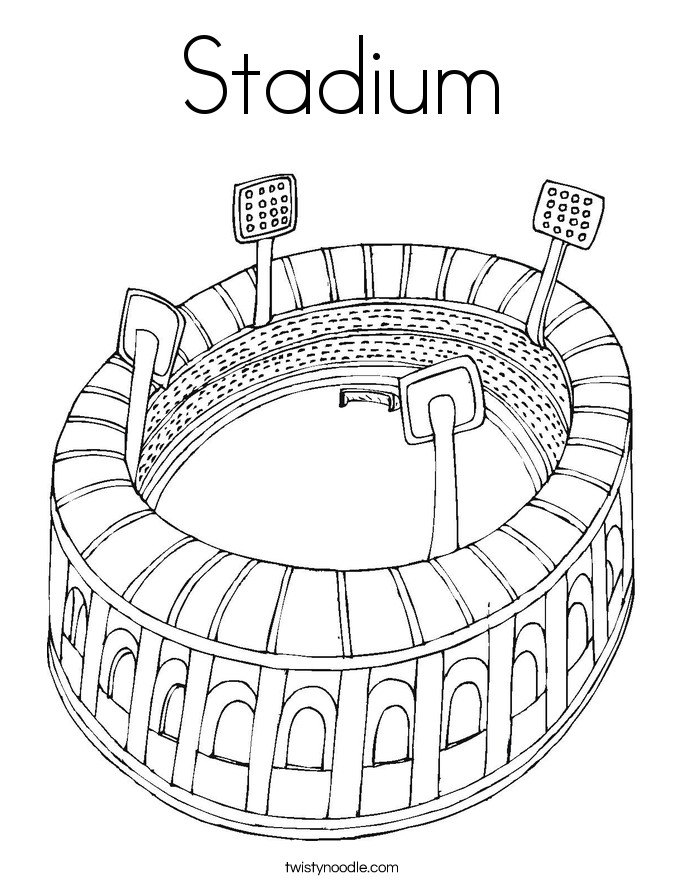 Stadium Coloring Page Twisty Noodle