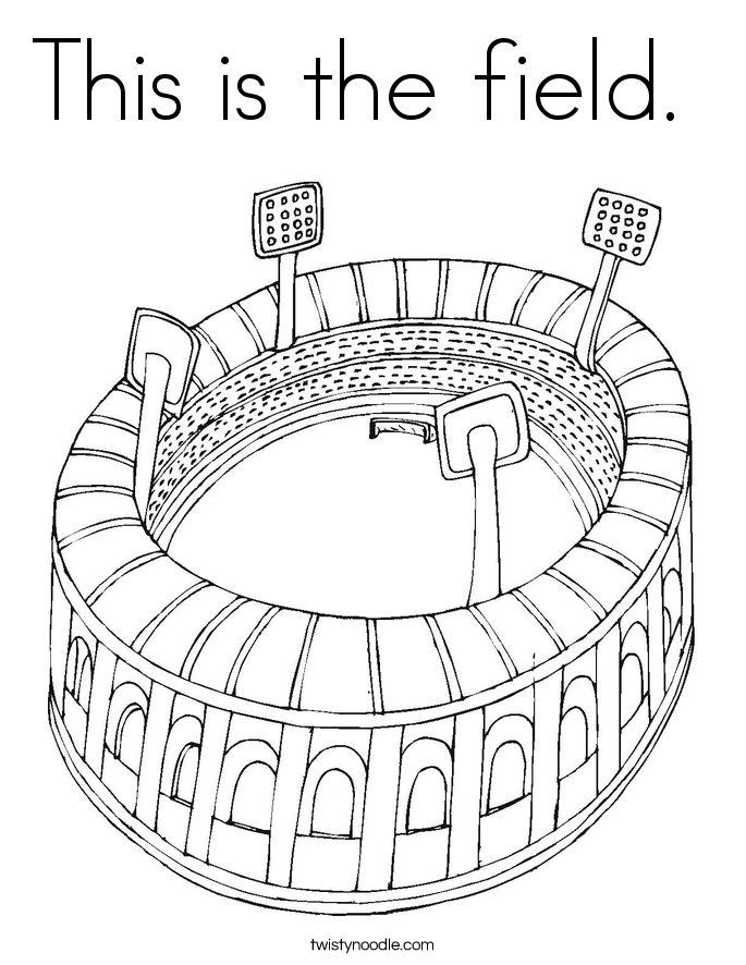 This is the field.  Coloring Page