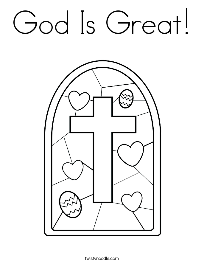 God Is Great! Coloring Page