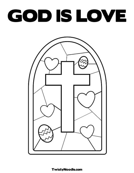 God is love coloring pages / God - 31.3KB