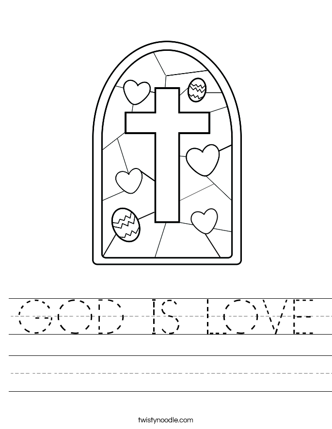 GOD IS LOVE Worksheet