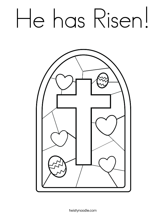 He has Risen! Coloring Page
