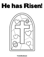 He has Risen Coloring Page