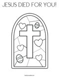 JESUS DIED FOR YOU! Coloring Page