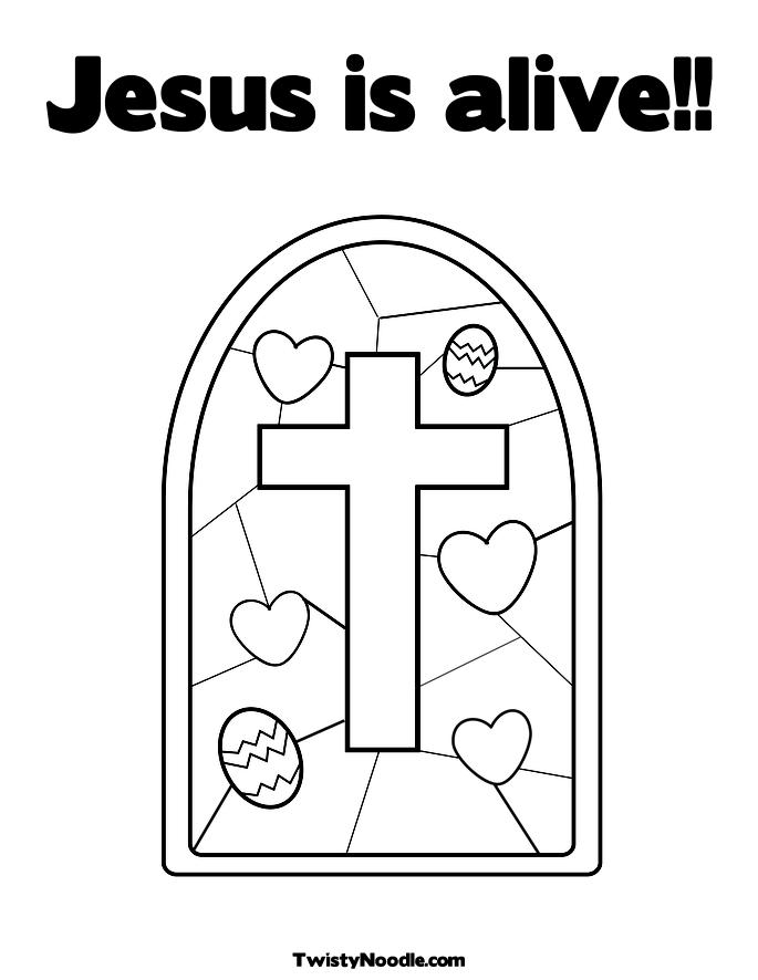 coloring pages easter jesus. Jesus is alive!! Coloring Page