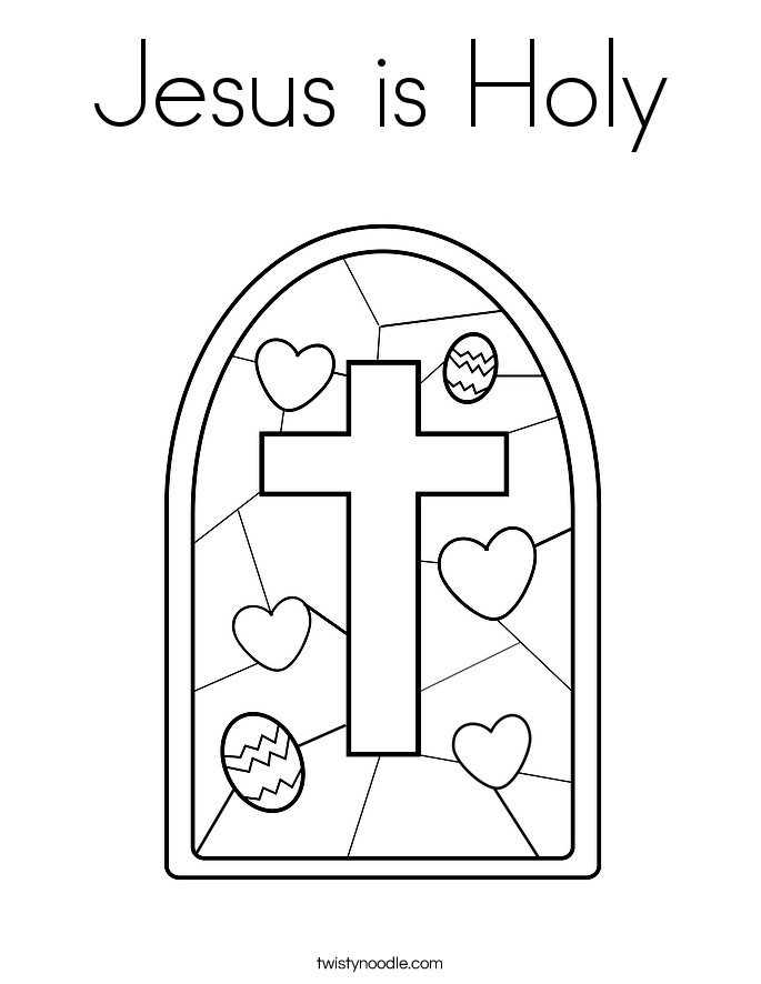 Jesus is Holy Coloring Page