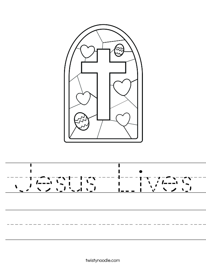 Jesus Lives Worksheet