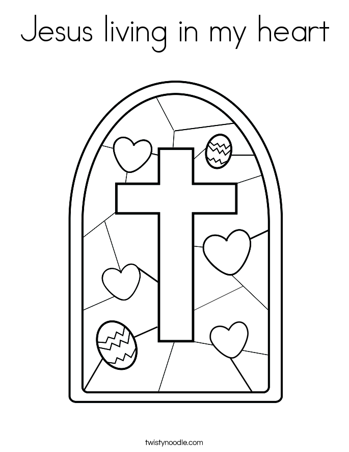 Jesus Forever In Our Hearts Coloring Page