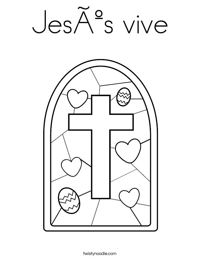 Jesús vive Coloring Page