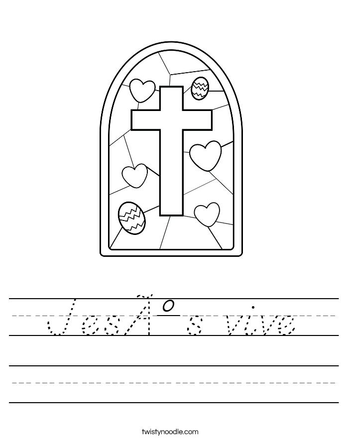 Jesús vive Worksheet