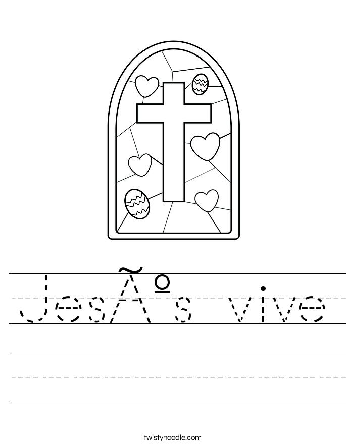Jesús vive Worksheet