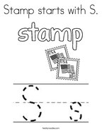 Stamp starts with S Coloring Page