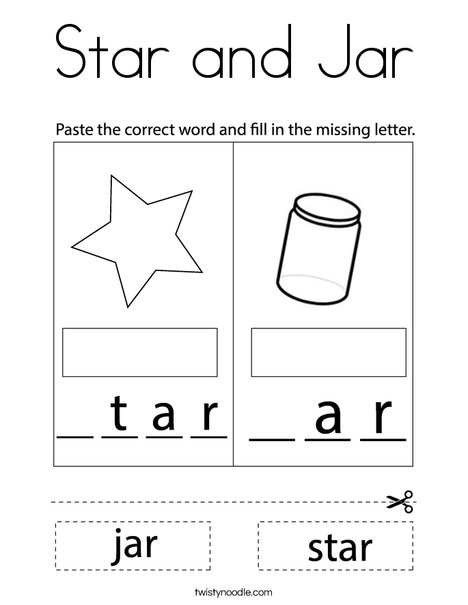 Star and Jar Coloring Page