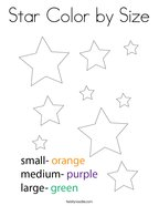Star Color by Size Coloring Page