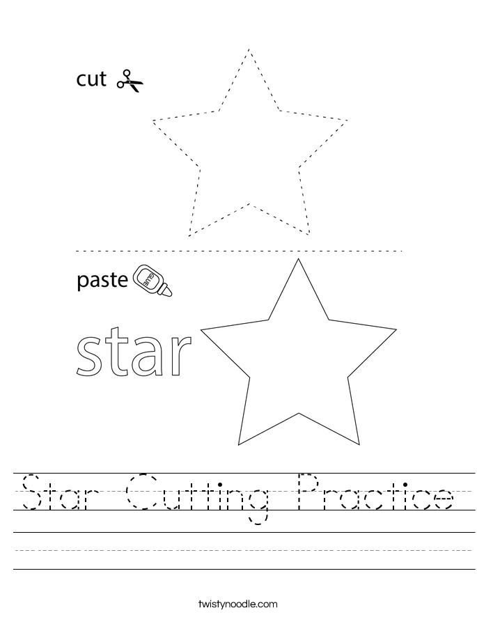 Star Cutting Practice Worksheet