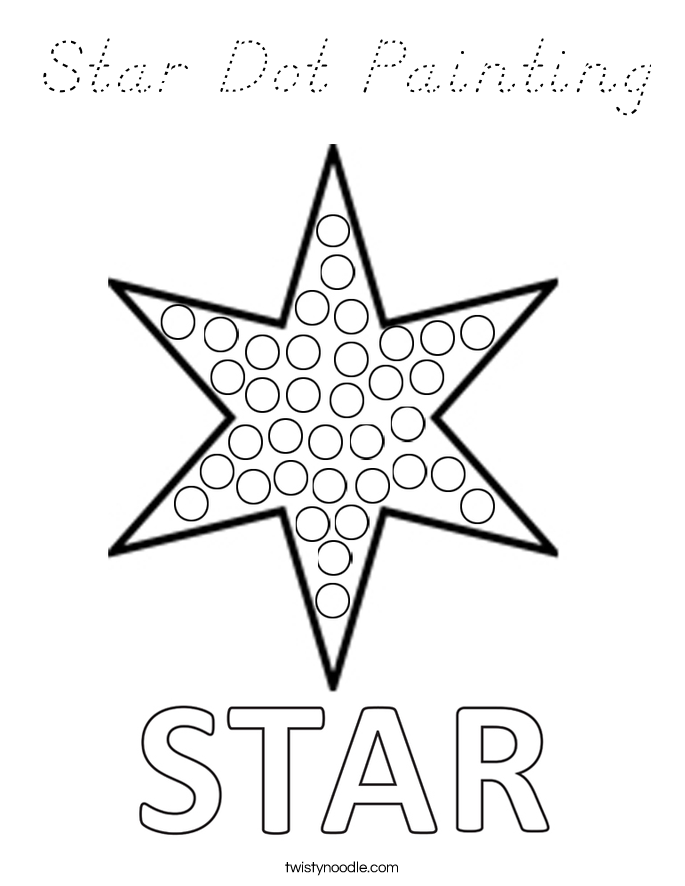 Star Dot Painting Coloring Page