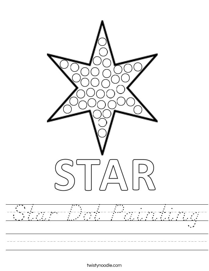Star Dot Painting Worksheet