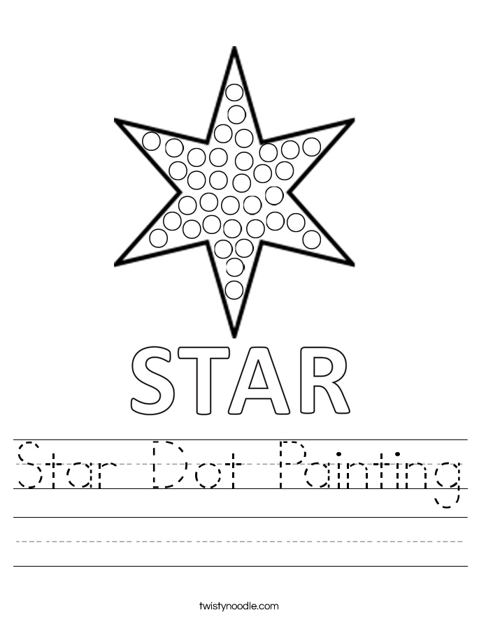 Star Dot Painting Worksheet