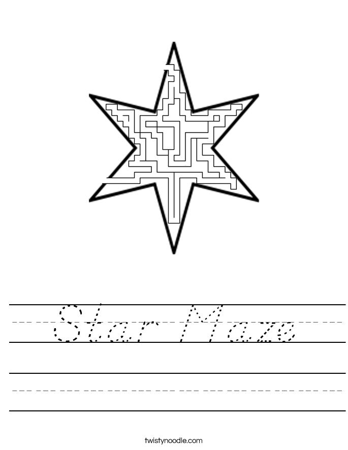 Star Maze Worksheet