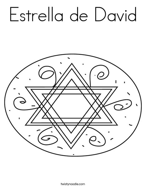 Star of David in Oval Coloring Page
