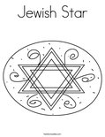 Jewish StarColoring Page