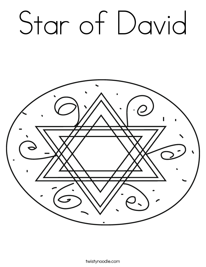 Star Of David Coloring Pages star of david coloring page - twisty ...