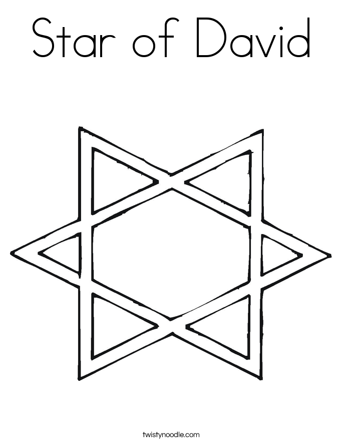 Star of david coloring page twisty noodle for Star of david coloring page