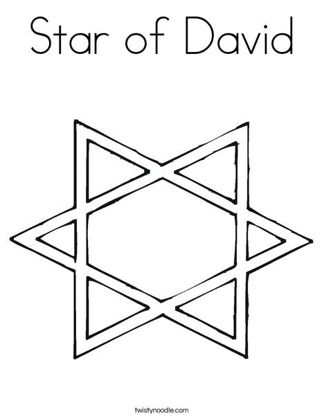 Star of David Coloring Page - Twisty Noodle