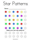 Star Patterns Coloring Page