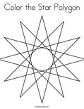 Color the Star PolygonColoring Page