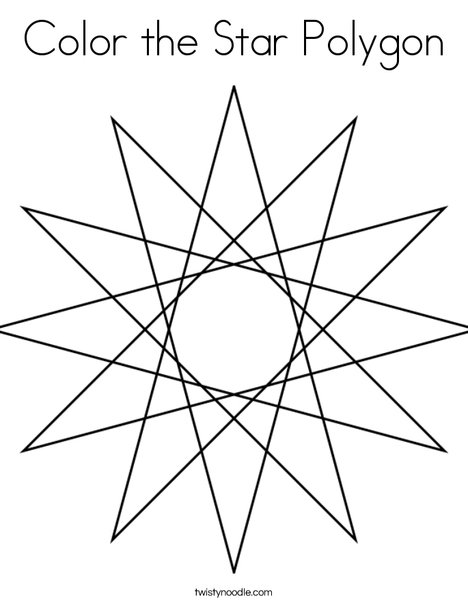 Star Polygon Coloring Page