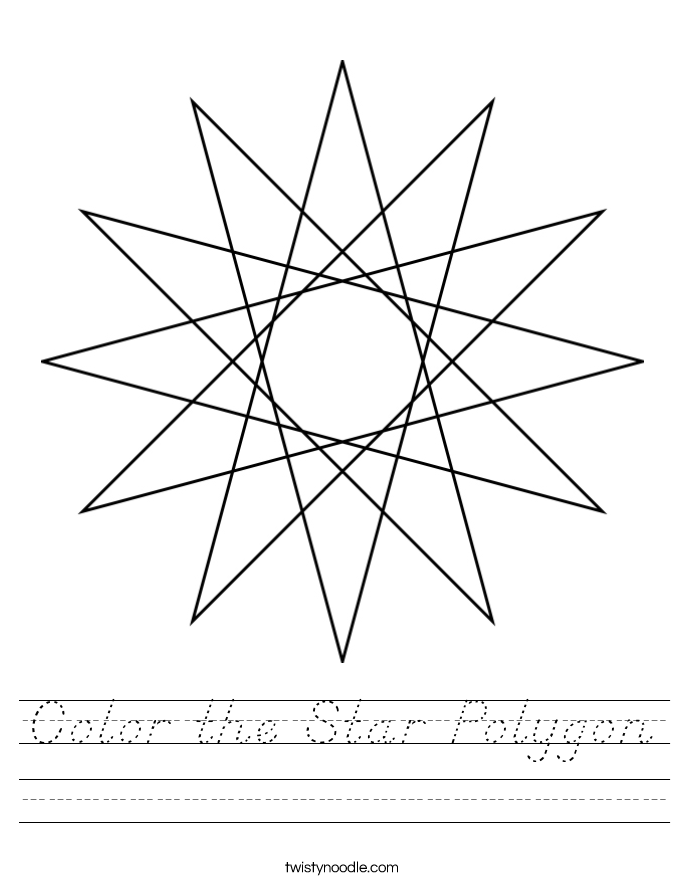 Color the Star Polygon Worksheet